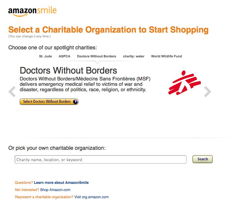 Step 2 Amazon Smile